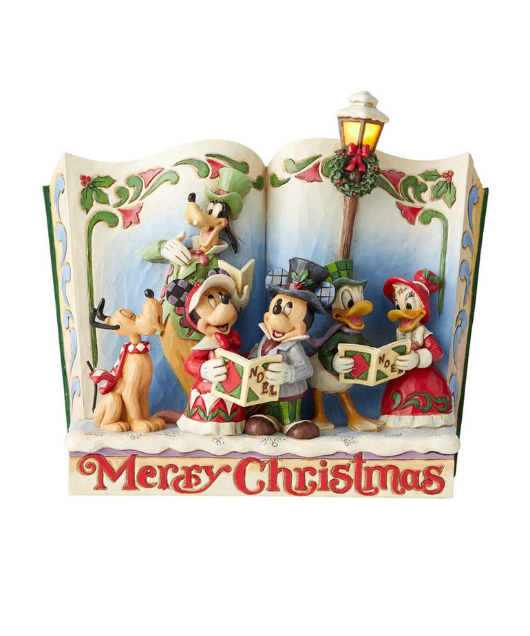 Disney ( Disney Traditions Figurine ) Merry Christmas Book Mickey & Friends