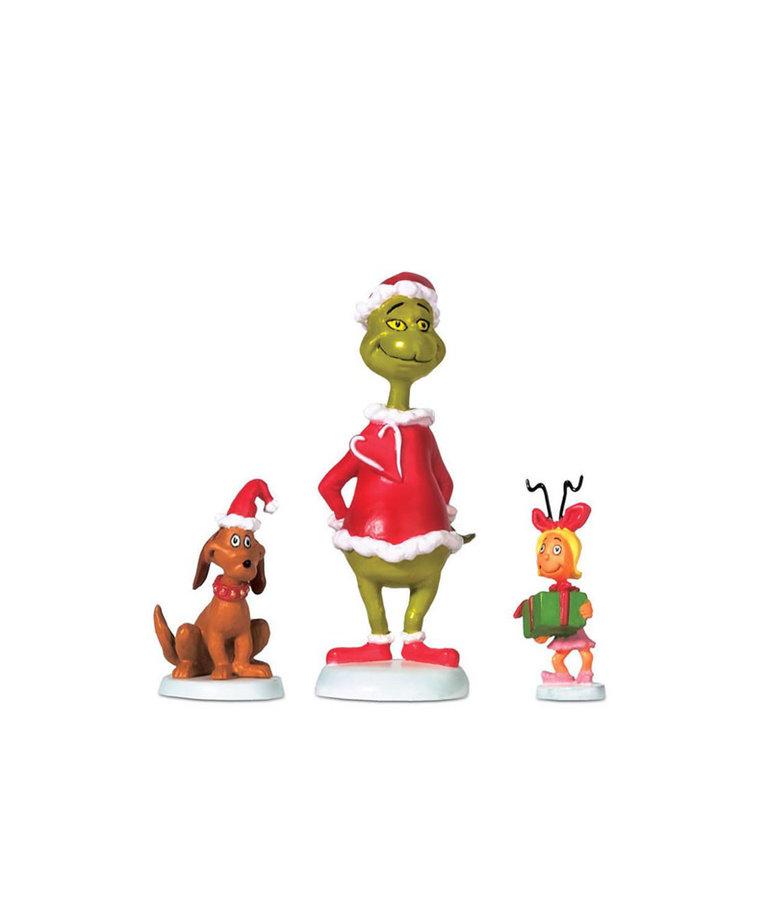 The Grinch ( Department 56 Grinch Village Figurine ) Grinch, Max & Cindy-Lou