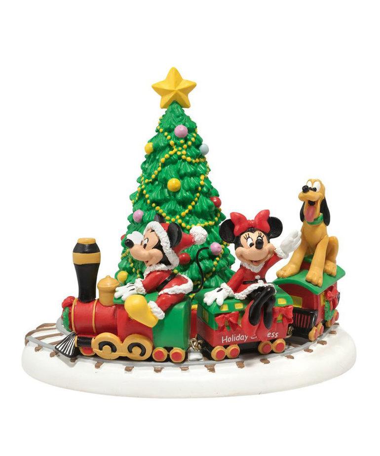 Disney ( Department 56 Disney Village Figurine ) Mickey Christmas Train