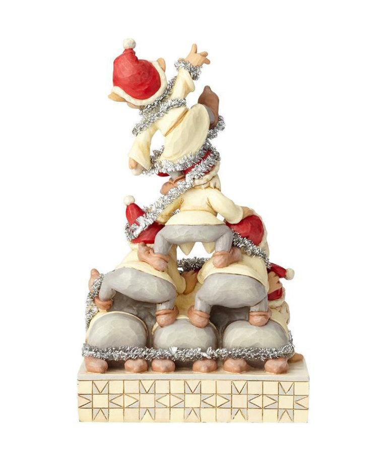 Disney ( Disney Traditions Figurine ) Seven Dwarfs Christmas Pyramid