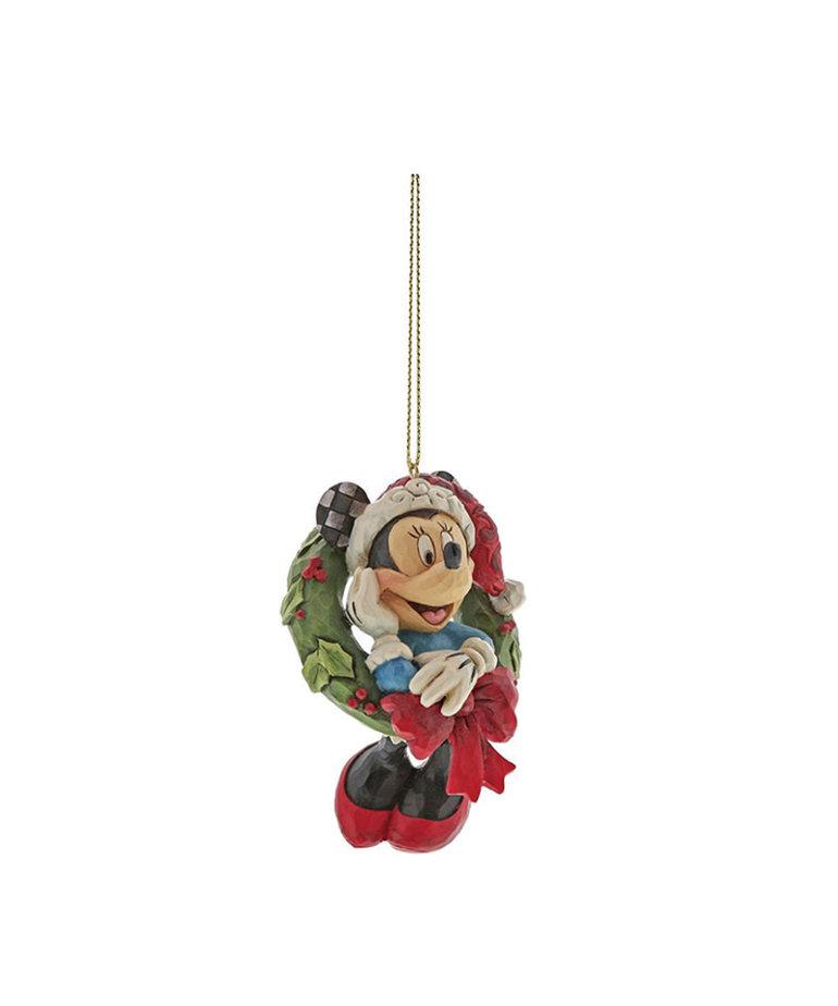 Disney Disney ( Disney Traditions Figurine ) Minnie with Christmas Wreath