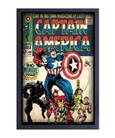 Marvel ( Framed Print ) Captain America # 100