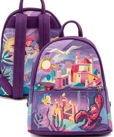 Disney ( Loungefly Mini Backpack ) Little Mermaid Castle