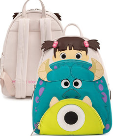 Disney ( Loungefly Mini Backpack )  Monsters Inc.  Boo, Mike & Sully