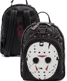 Friday The 13th ( Loungefly Mini Backpack ) Jason Mask '' Glow in the Dark ''