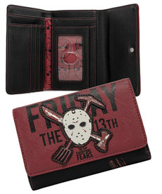 Friday The 13th ( Loungefly Wallet ) Jason Mask '' Glow in the Dark ''