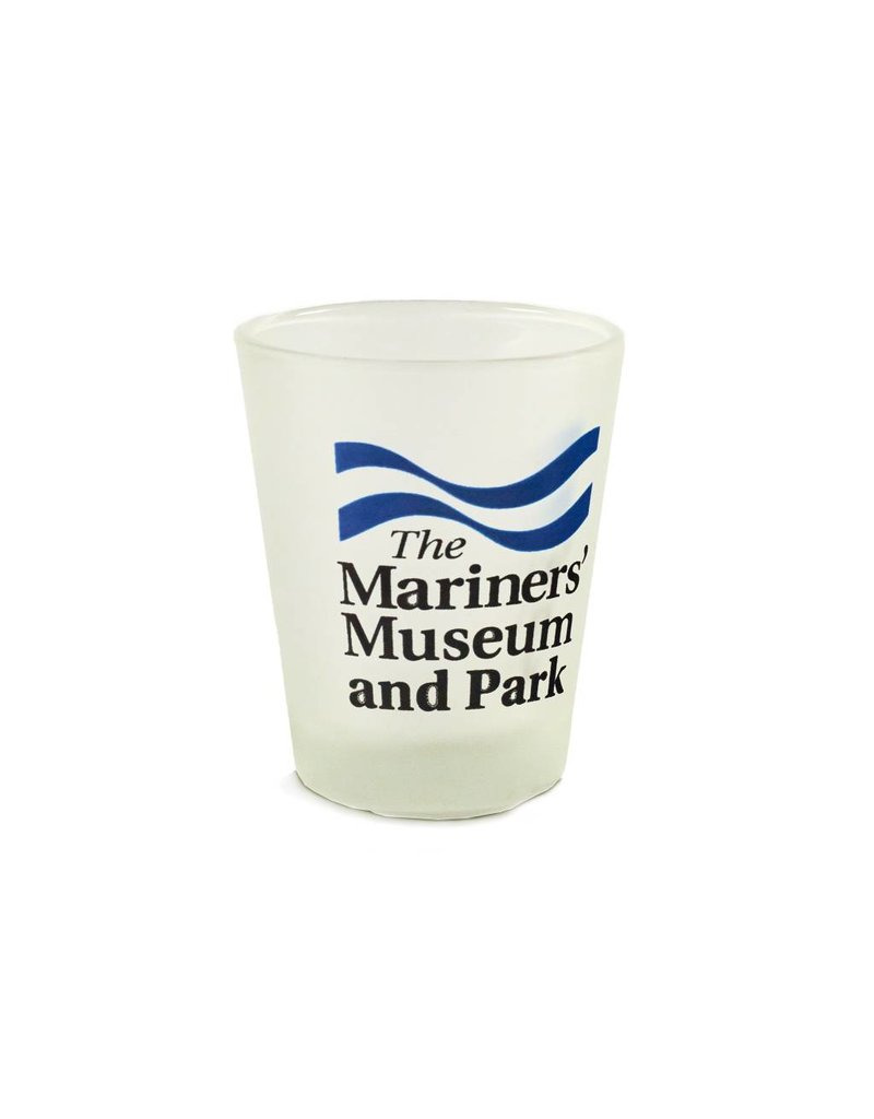 The Mariners' Museum and Park Logo Frosted Shot Glass
