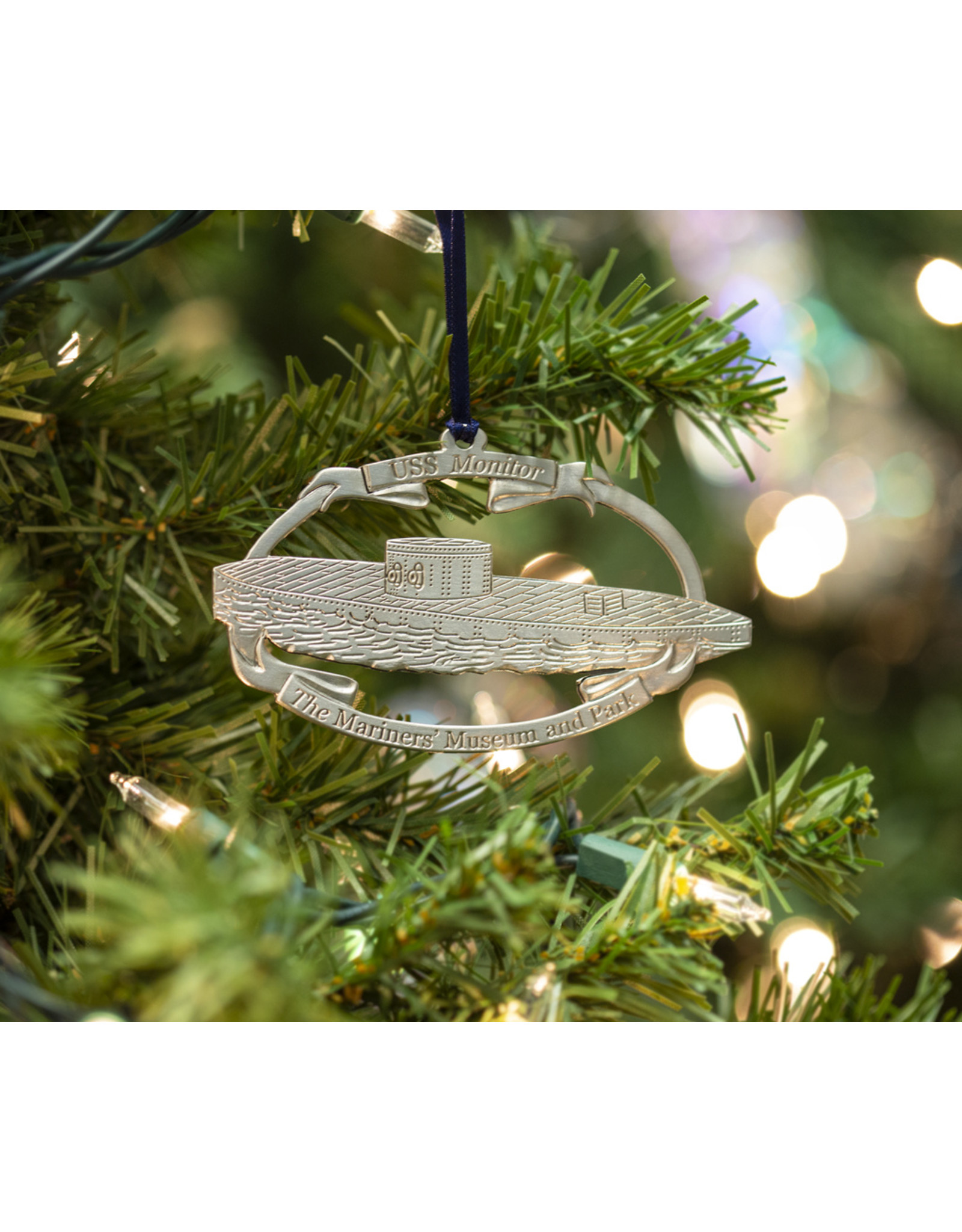 USS Monitor Pewter Ornament 2019
