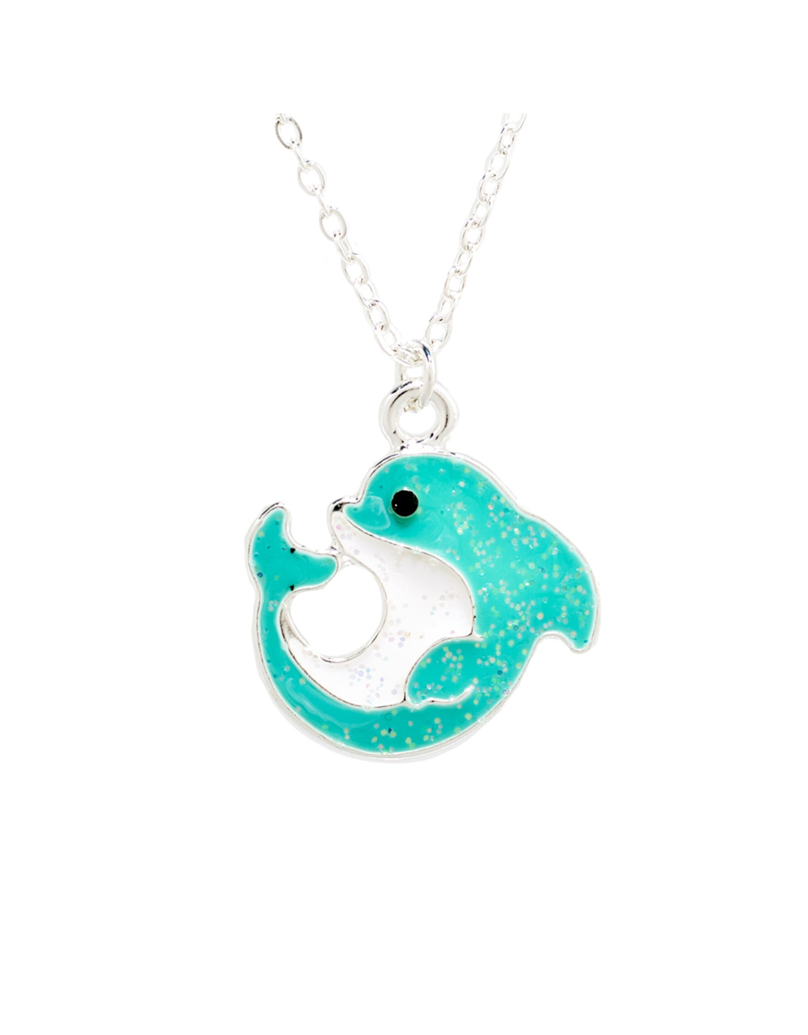 Glitter Dolphin Necklace