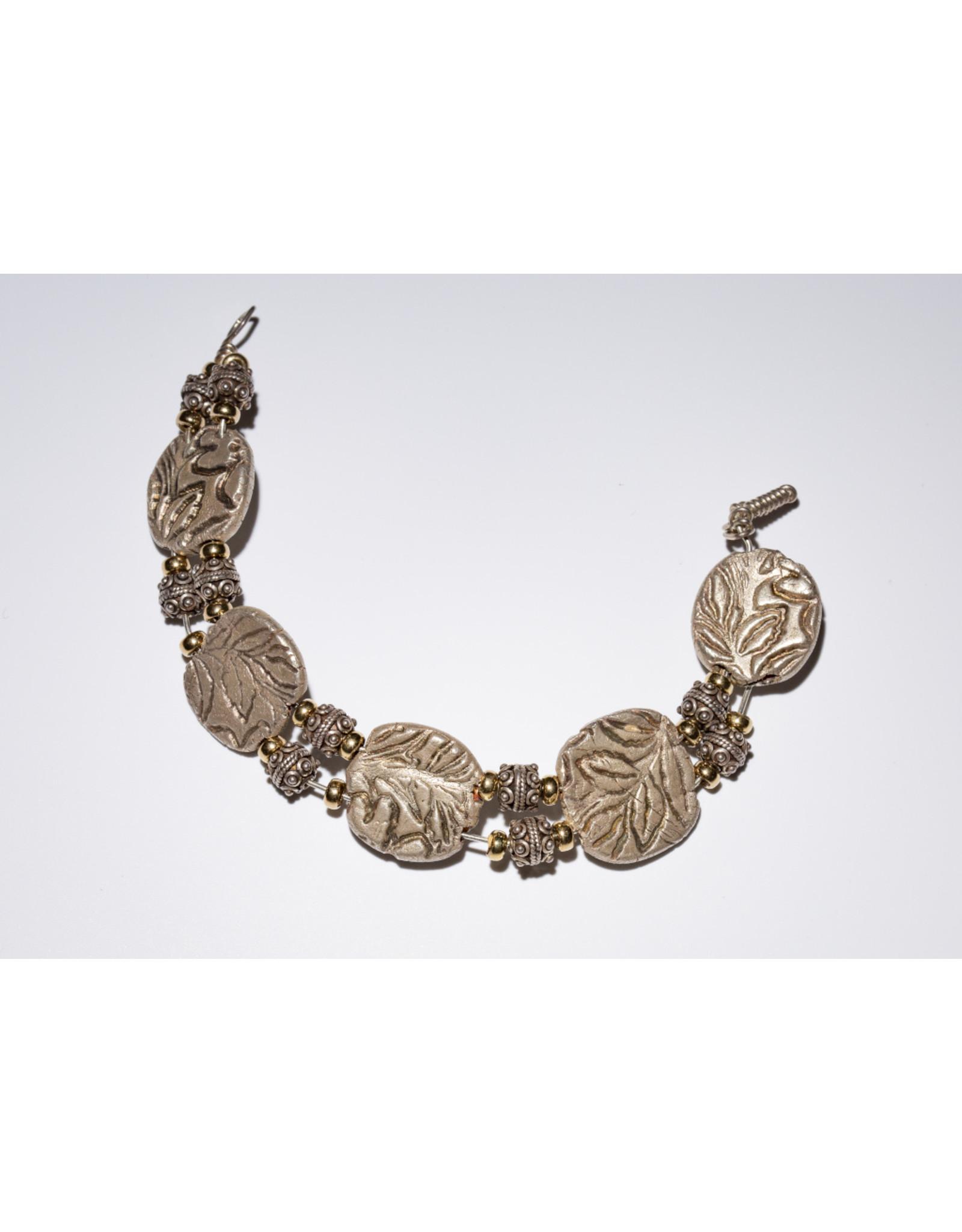 Sterling Clay Bracelet