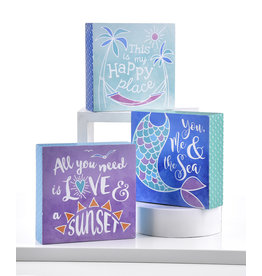 Seaside Sayings Desk Block Assorted