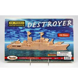 Destroyer 3D Wooden Puzzle