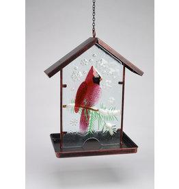Winter Cardinal Birdfeeder