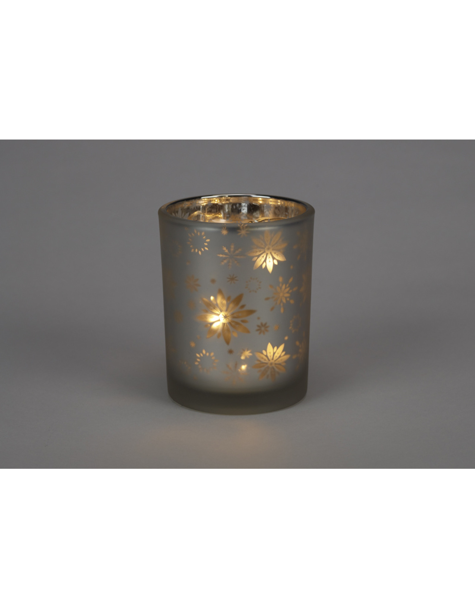 Winter Icons Glass Candle Holder Small