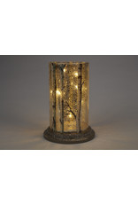 LED Glass Cylinder Glittery Birch Branches