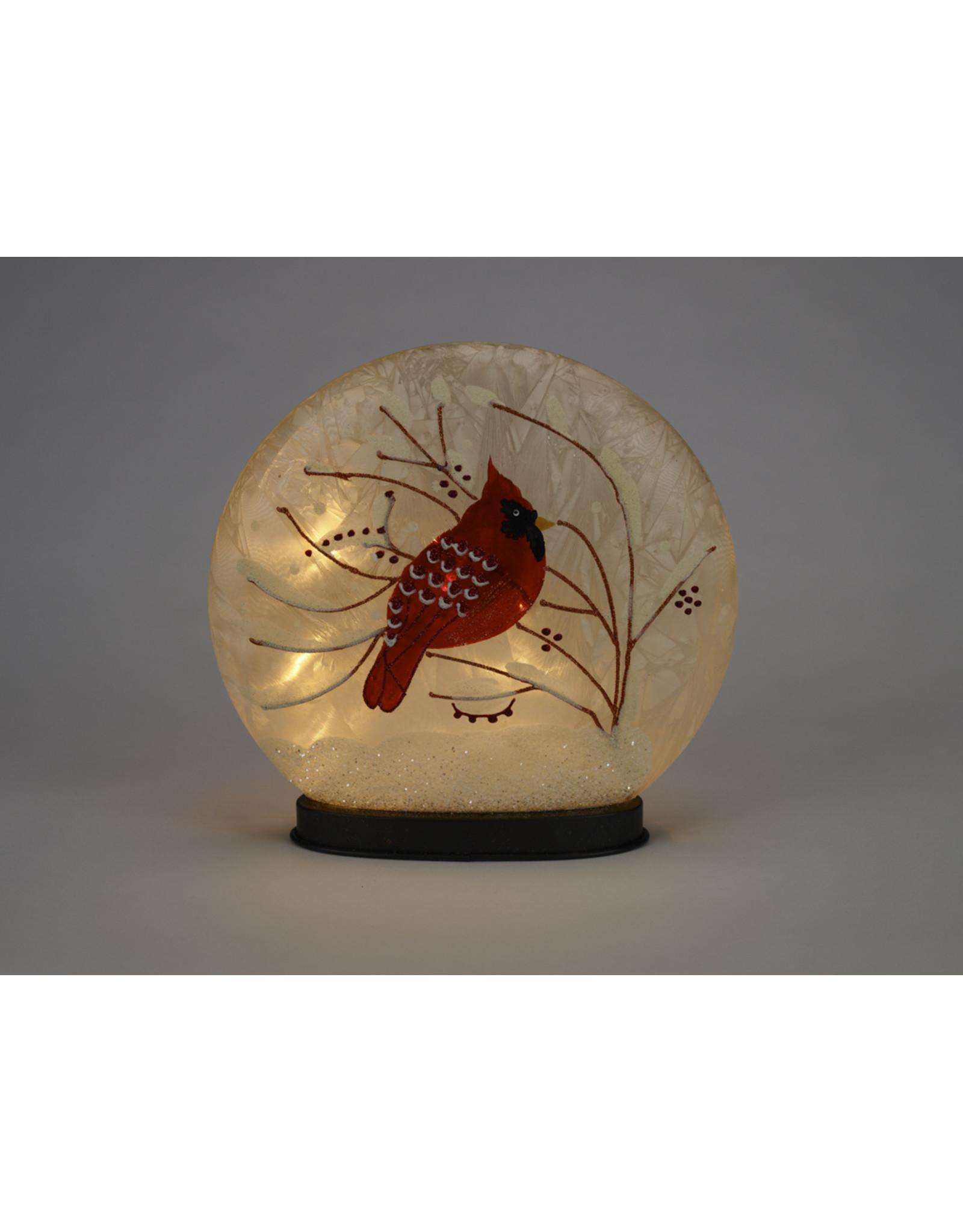 LED Glass Cardinal Globe