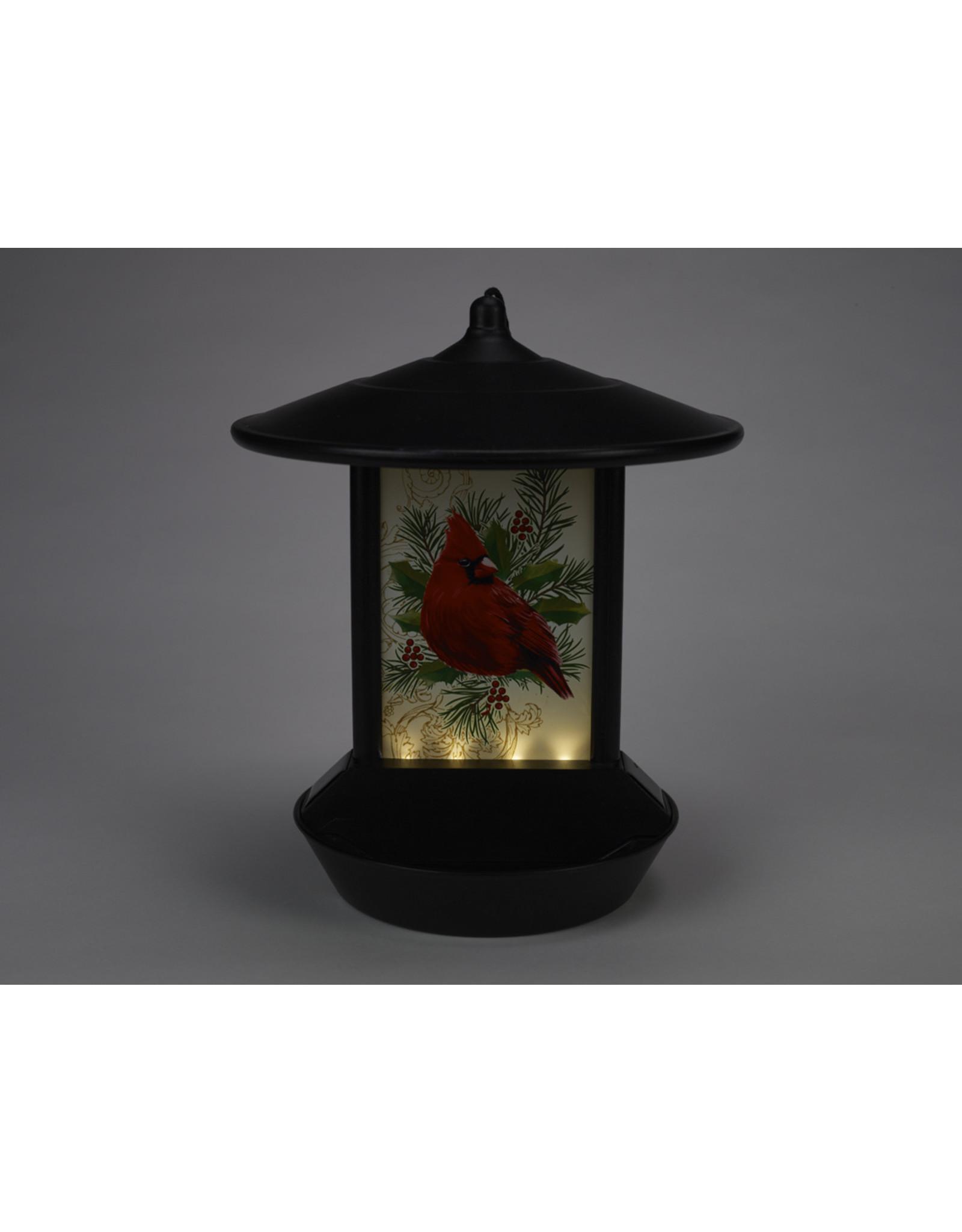Cardinal Solar Birdfeeder