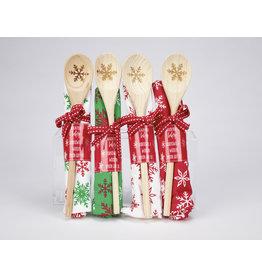 Winter Towel & Wooden Spoon Giftset