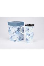 "Ceramic Travel Mug ""Winter Snowfall"""