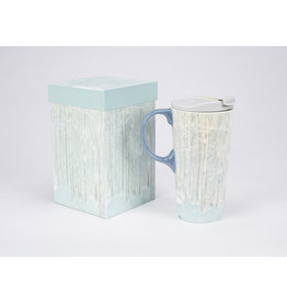 "Ceramic Travel Mug ""Birch Forest"""