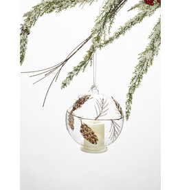 Glass Pine Cone LED Tealight Ornament
