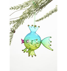 Ocean Life Blown Glass Ornament