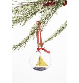 Sailboat In A Bottle Ornament