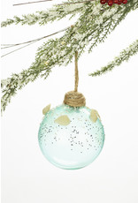 Glass Coastal Ornament w/ Shells