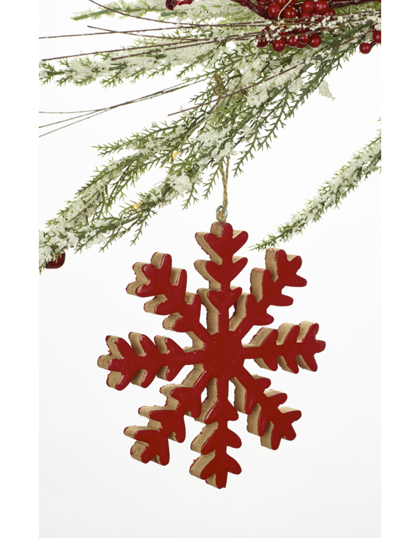 Wood Snowflake Ornament