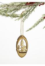Wood Serene Scene 3D Ornament