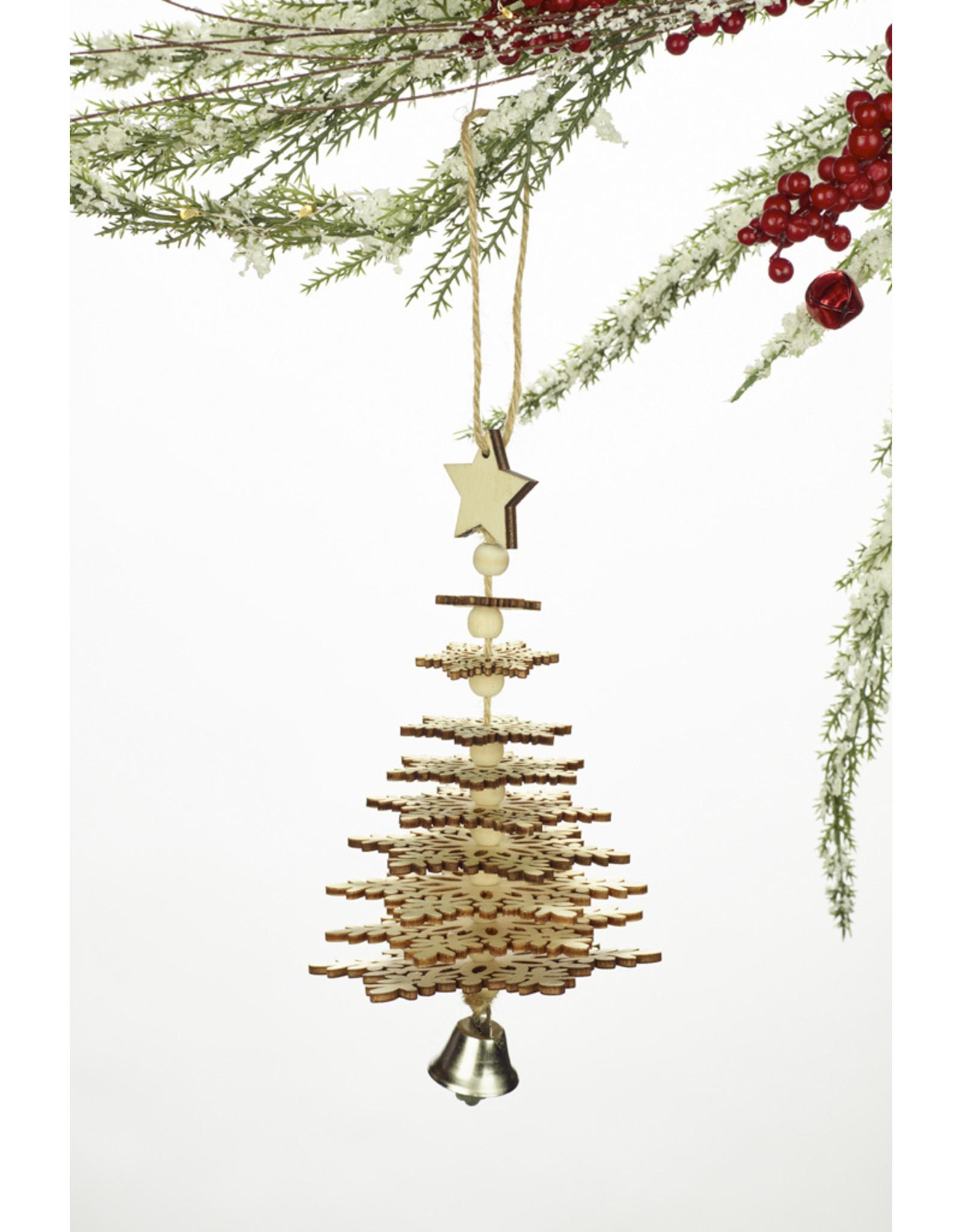 Wood Christmas Tree 3D Ornament