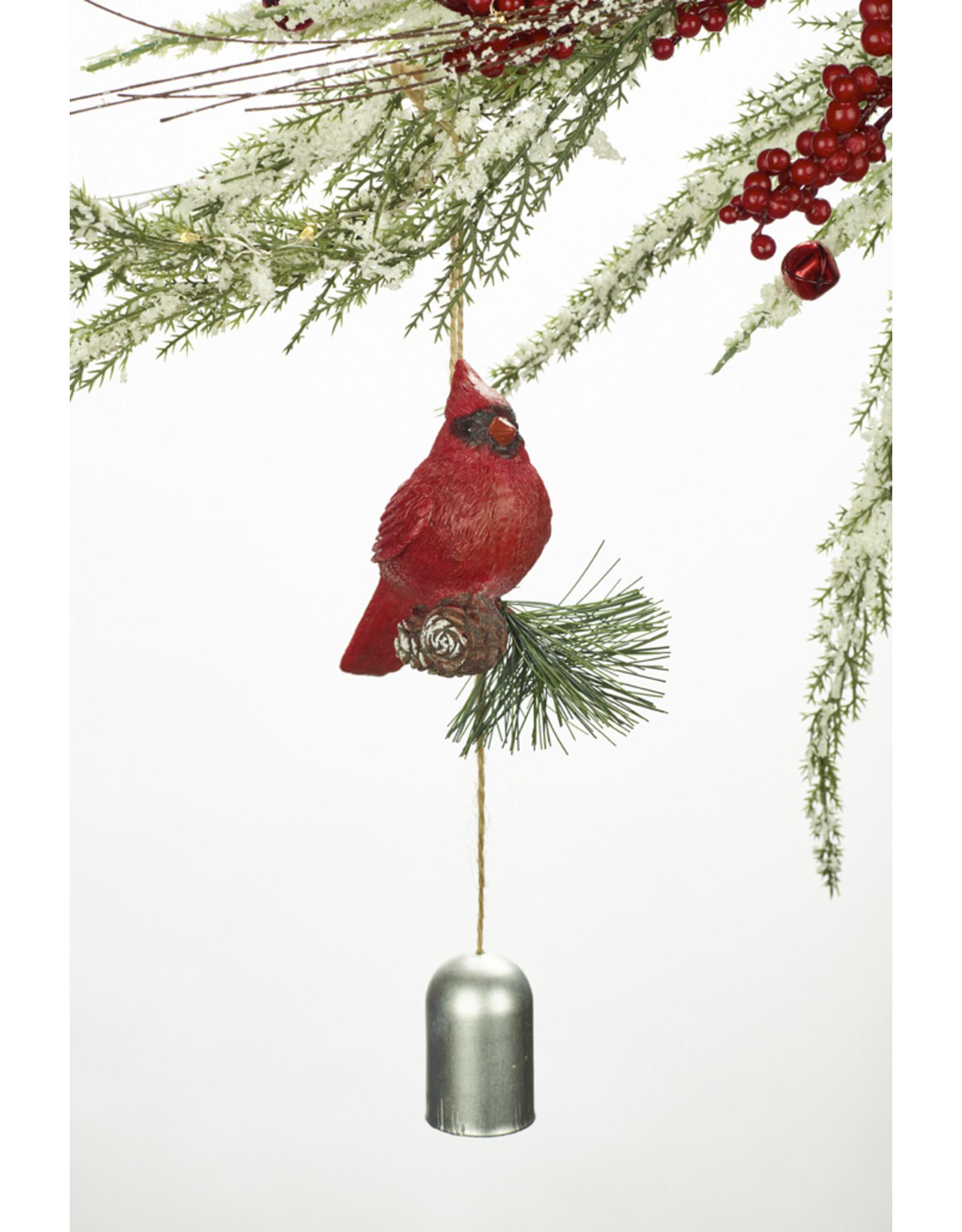 Polystone Cardinal Bell Ornament