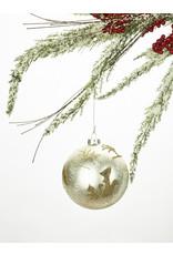 Glass Ball Deer Ornament
