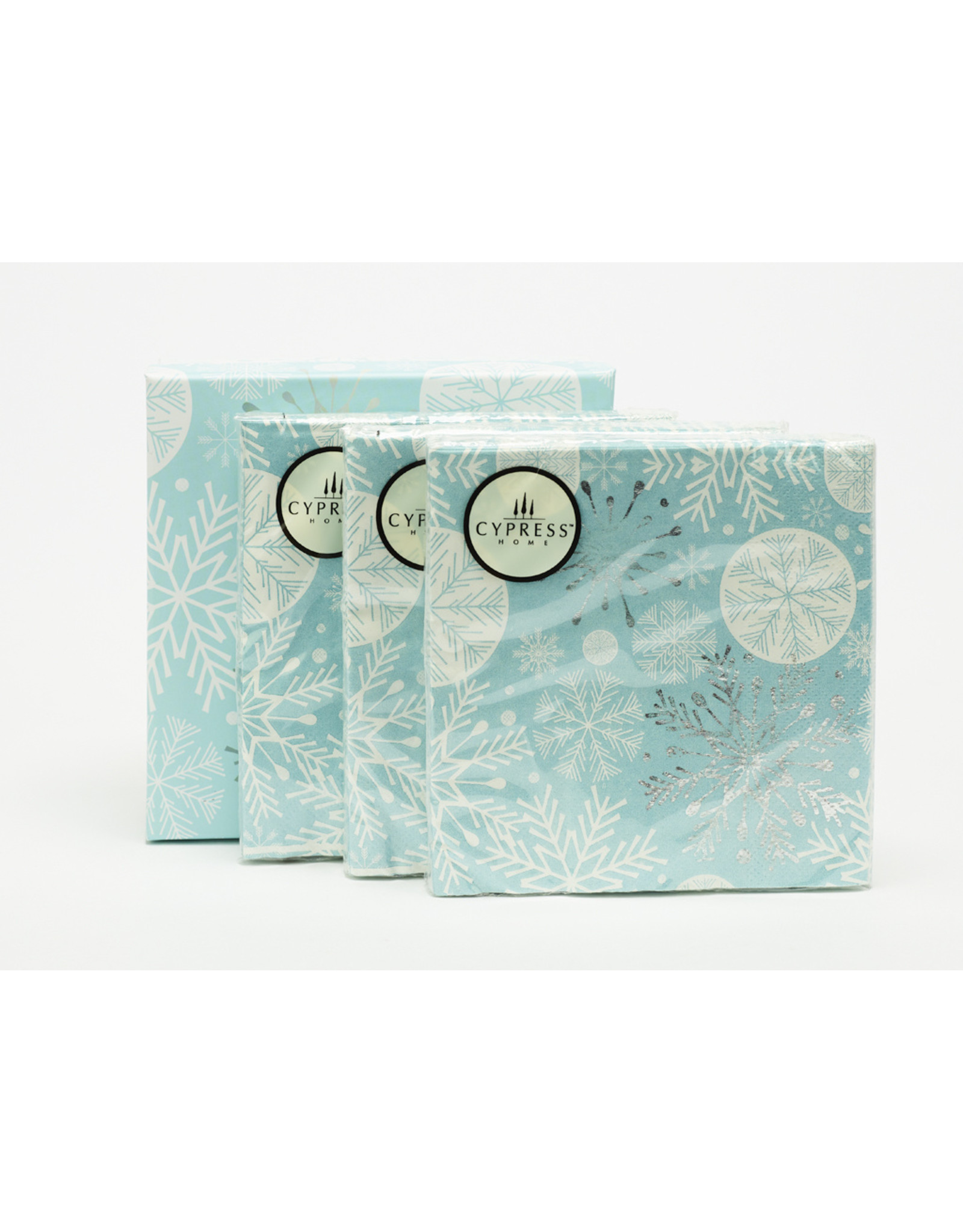 Boxed 60 Count Cocktail Napkins Snowflake