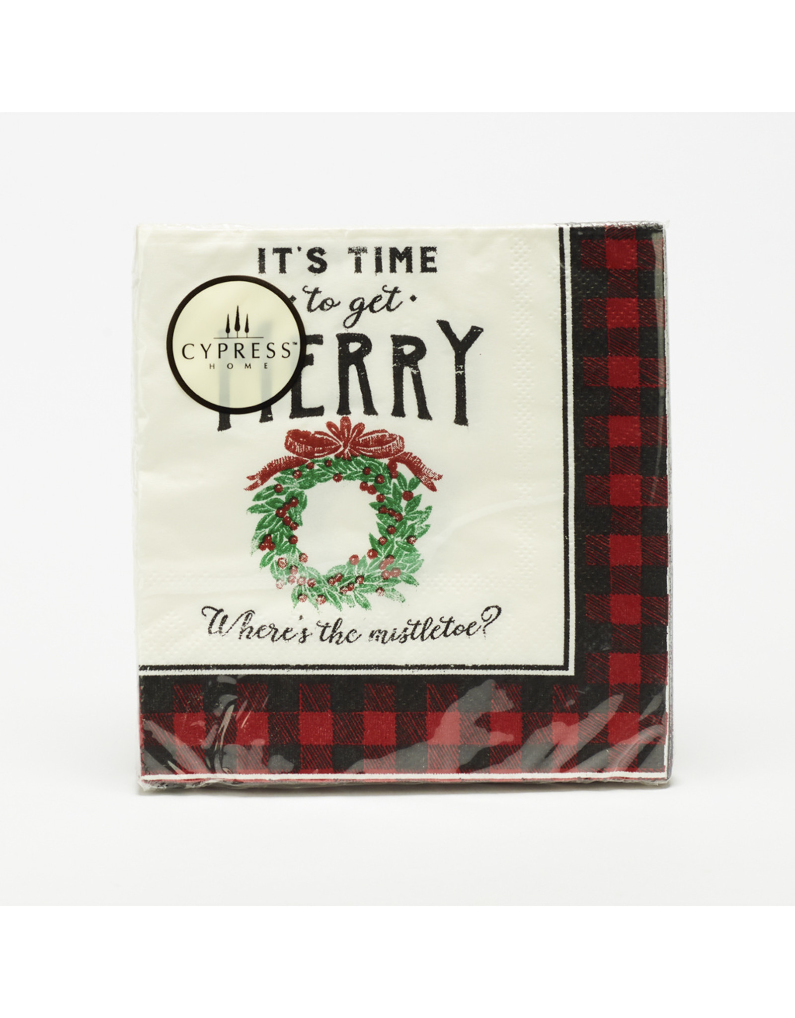 """Cocktail Napkins """"Time To Get Merry"""""""