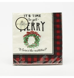 "Cocktail Napkins ""Time To Get Merry"""