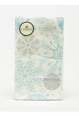 Paper Guest Towels Metallic Snowflake