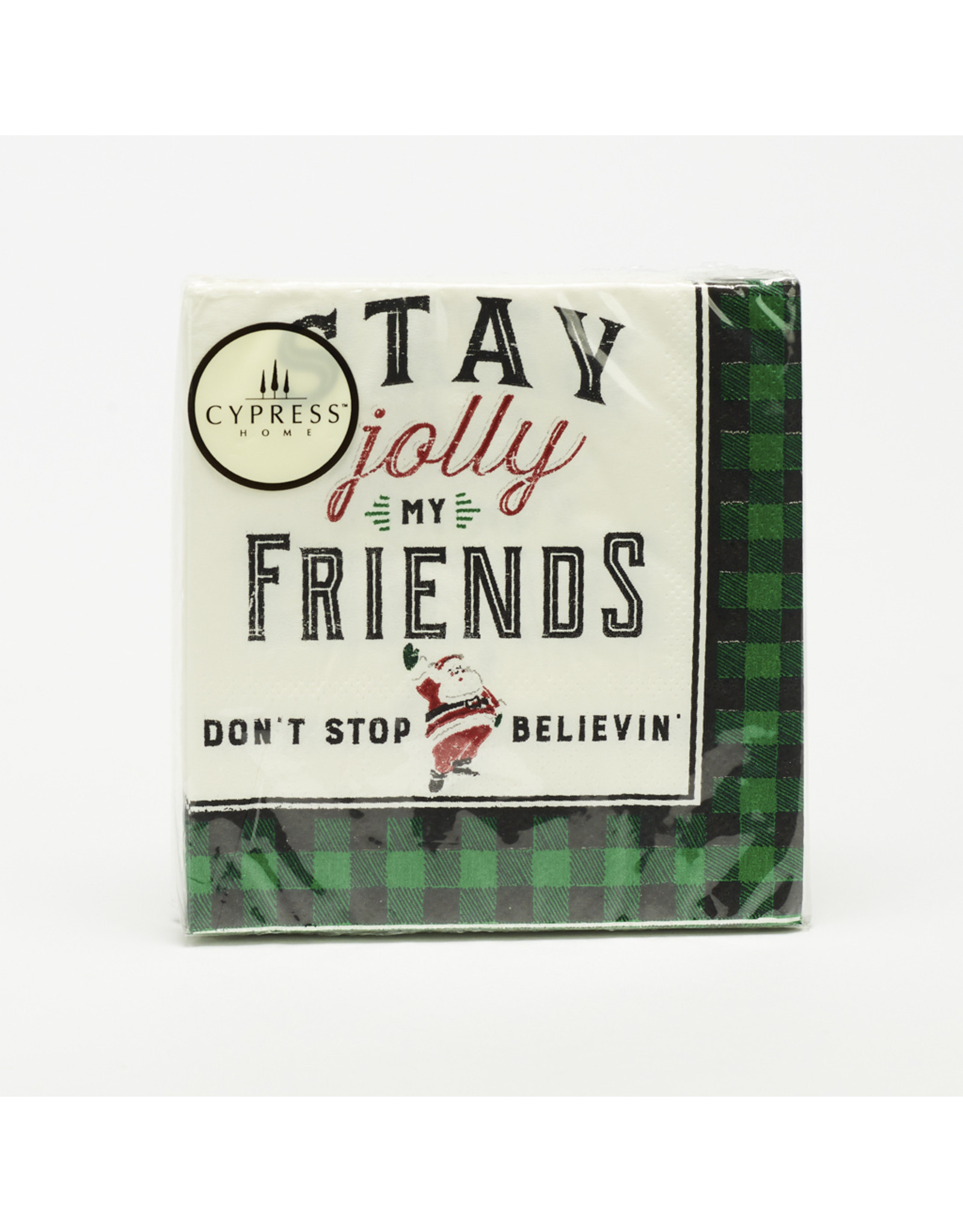 """Cocktail Napkins """"Stay Jolly My Friends"""""""