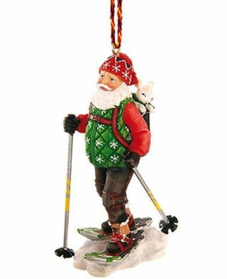 Snowshoe Santa Decoration