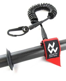 Coiled Paddle Leash - North Water
