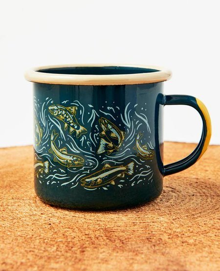 Upstream Enamel Mug