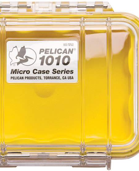 1010 Pelican Micro Case - Yellow/Clear