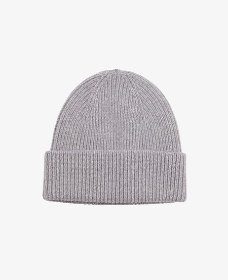 Merino Beanie, Heather Grey