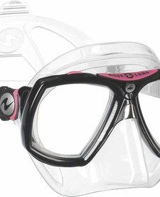Look 2 Mask Regular Clear Silicone Black Pink