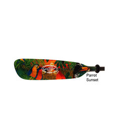 Wind Swift, 2-pc Touring Paddles - Parrot Sunset Graphic