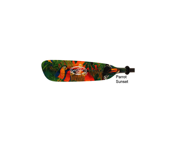Eddyline Wind Swift, 2-pc Touring Paddles - Parrot Sunset Graphic