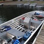 "Marlon SWV14S - Marlon 14' Aluminum Boat 15"" Transom"