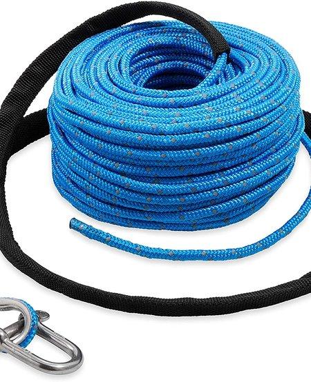Trac Premium Anchor Line - 3/16 x 100 Blue