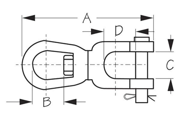 Seachoice Galvanized Anchor Swivel