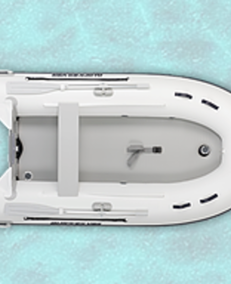 Inflatable 300 Airdeck & Keel White 15 HP MAX Pontoon